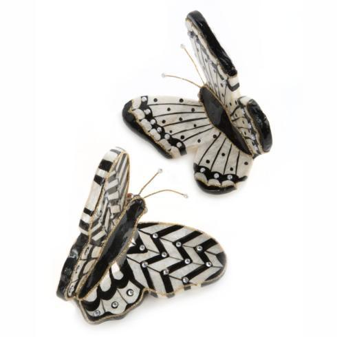 $68.00 Butterfly Ornaments - Black - Set of 2