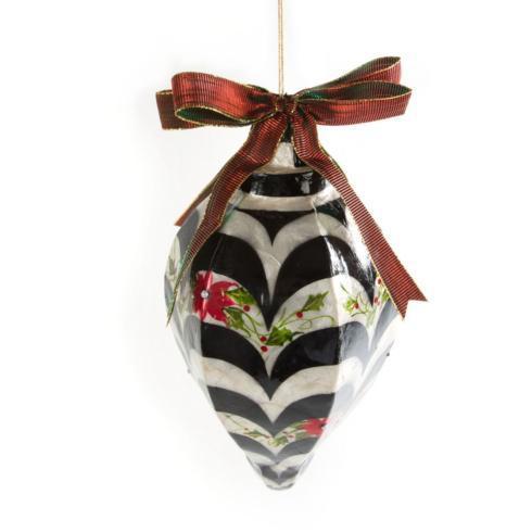 $98.00 Capiz Ornament - Jumbo Holly Drop