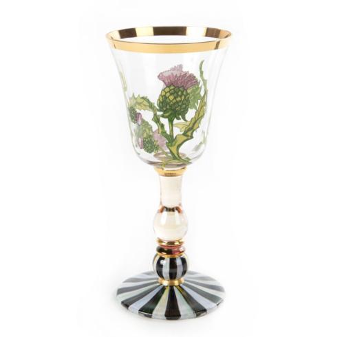 MacKenzie-Childs  Thistle & Bee White Wine Glass $88.00
