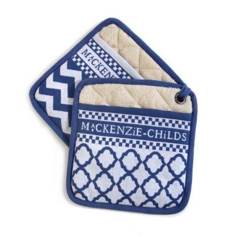 $24.00 Blue & White Pot Holders - Set of 2
