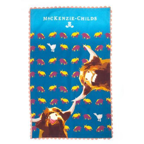 MacKenzie-Childs  Textiles Divine Bovine Tea Towel $26.00