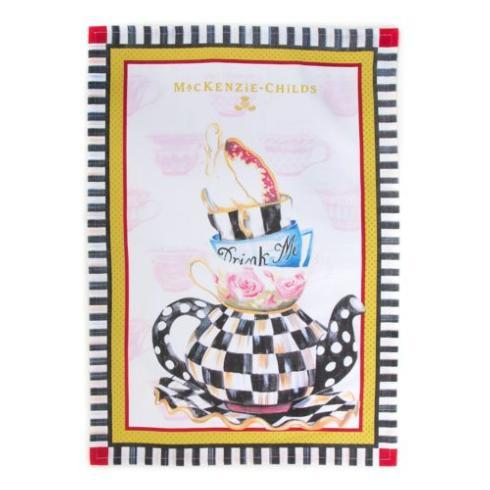 $15.00 Curious Teacup Tea Towel