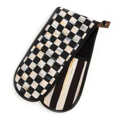 MacKenzie-Childs  Textiles Courtly Check Bistro Double Oven Mitt $40.00
