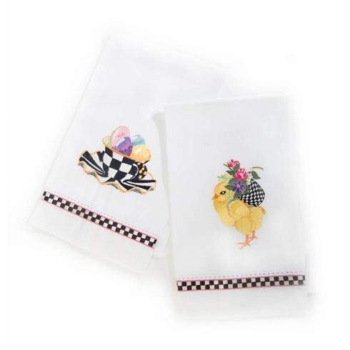 $30.00 Chicks & Eggs Guest Towels - Set of 2
