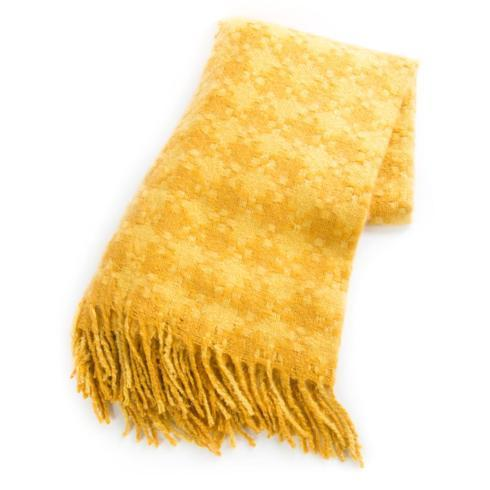 $68.00 Houndstooth Throw - Gold