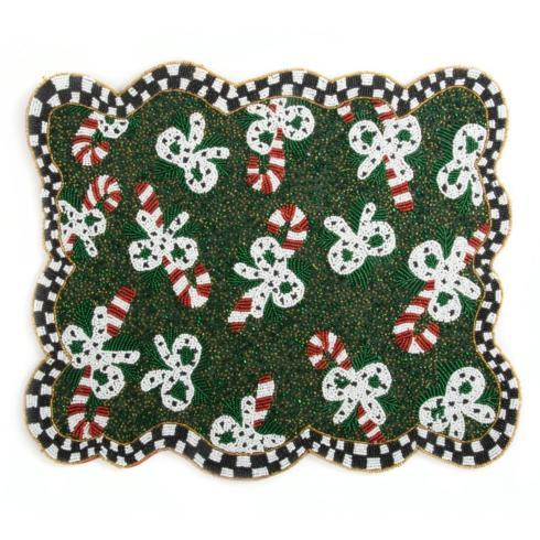 $60.00 Candy Cane Beaded Placemat