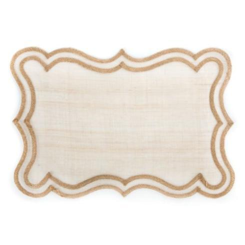 Scroll Placemat - Gold