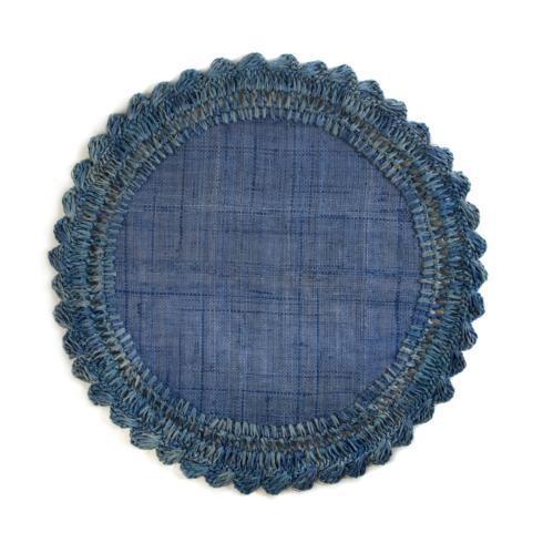 $20.00 Raffia Placemat - Sea Blue