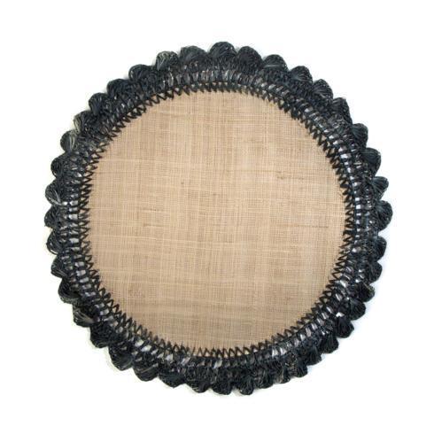 $20.00 Raffia Placemat - Black