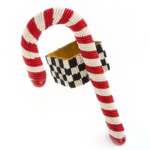 $16.00 Candy Cane Beaded Napkin Ring