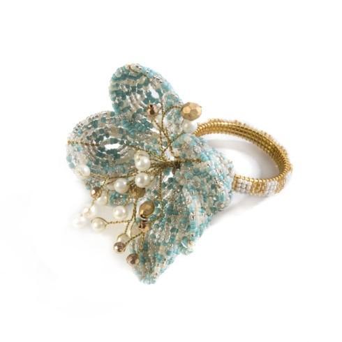 $22.00 Parchment Flower Napkin Ring