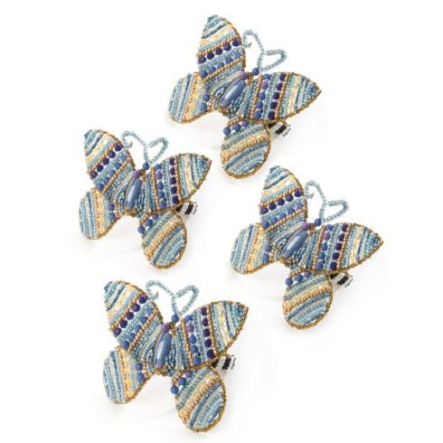 $60.00 Royal Butterfly Napkin Rings - Set of 4