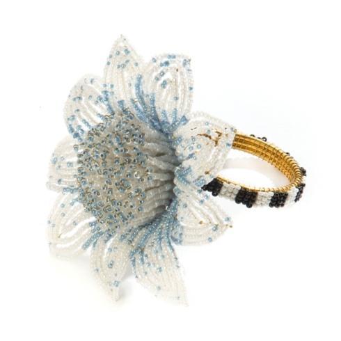 $32.00 Blossom Napkin Ring - Blue