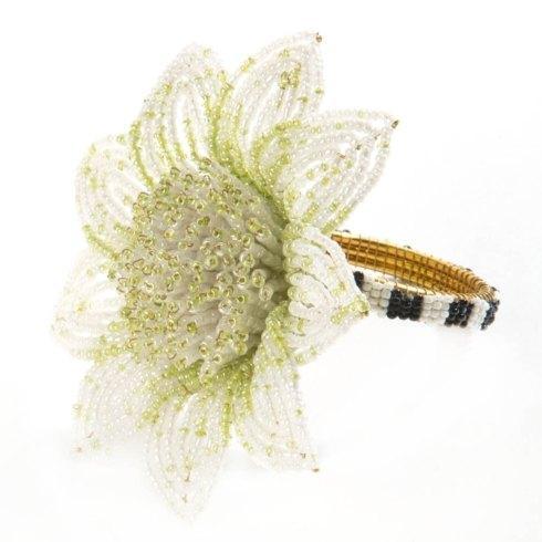 $32.00 Blossom Napkin Ring - Green