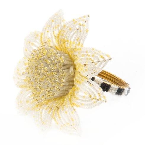 $32.00 Blossom Napkin Ring - Yellow
