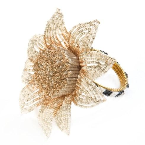 $32.00 Blossom Napkin Ring - Gold