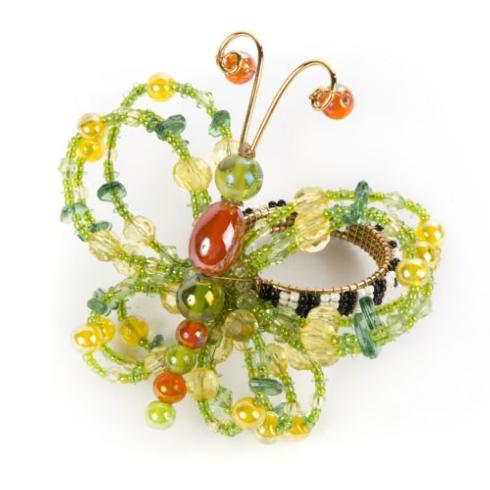 Butterfly Napkin Ring - Green