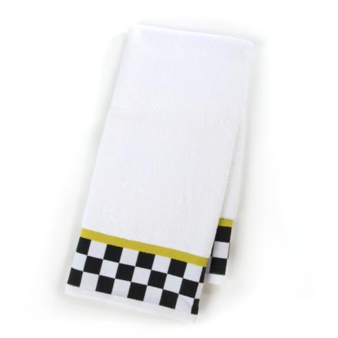 MacKenzie-Childs  Bath Black & White Check Hand Towel $22.00