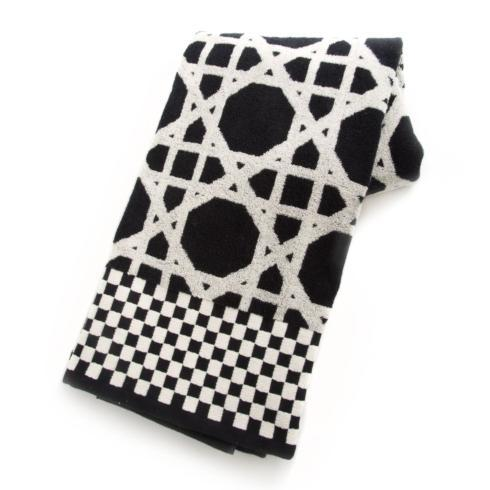 $40.00 Trellis Bath Towel - Black