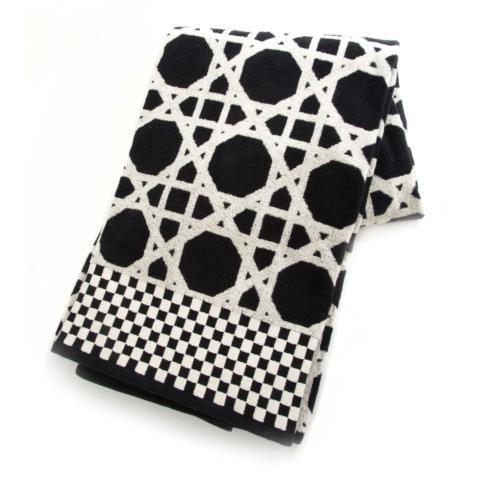 $68.00 Trellis Bath Sheet - Black