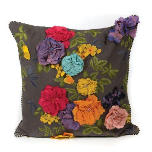 Covent Garden Floral Pillow - Square