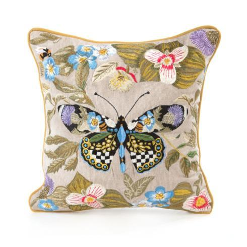 MacKenzie-Childs  Decor Thistle & Bee Square Pillow - Small $225.00