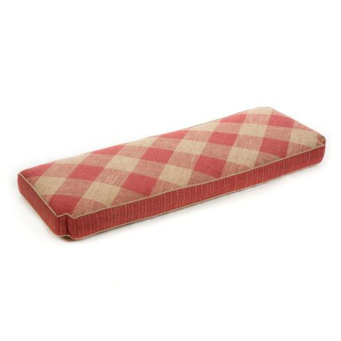 $495.00 Bench Cushion - Rhubarb