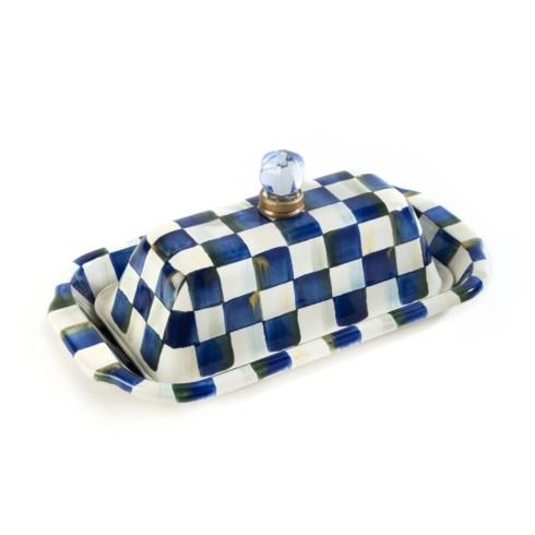 MacKenzie-Childs Royal Check Accessories Butter Box $98.00