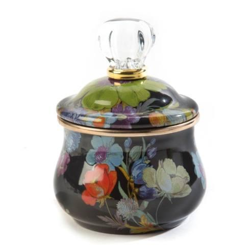 $74.00 Lidded Sugar Bowl - Black
