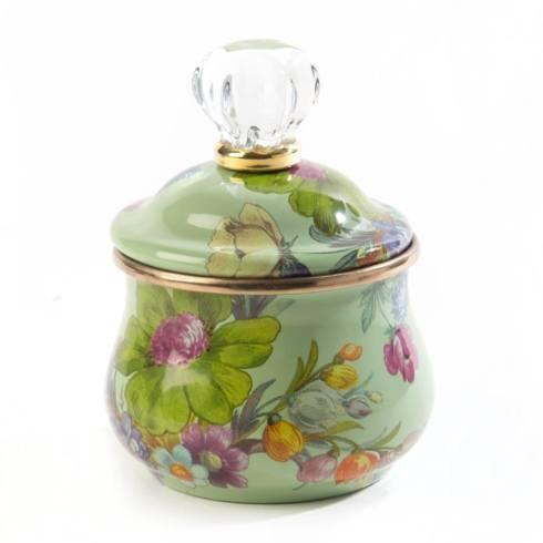 $68.00 Lidded Sugar Bowl - Green