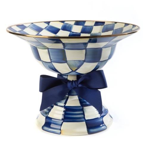 MacKenzie-Childs  Royal Check Compote - Large $150.00
