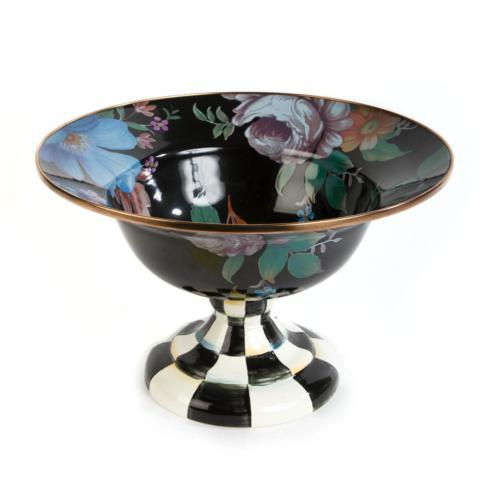 $150.00 Large Compote - Black