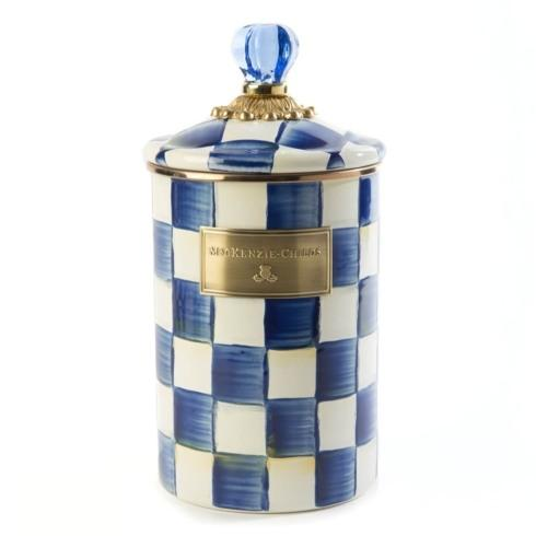 MacKenzie-Childs  Royal Check Canister - Large $88.00