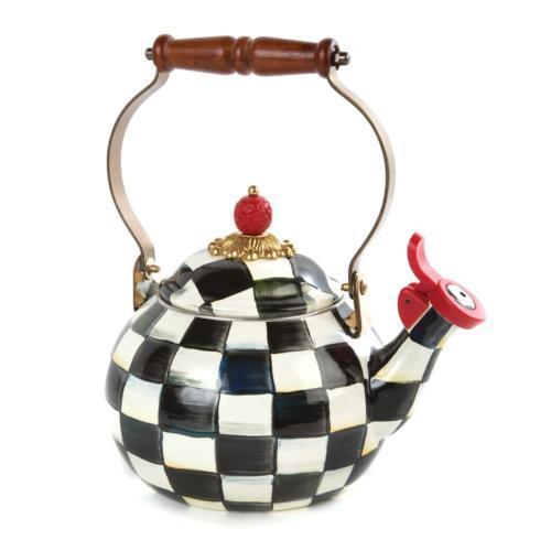 $150.00 Enamel Whistling Tea Kettle