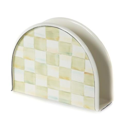 MacKenzie-Childs  Parchment Check Enamel Napkin Holder $42.00