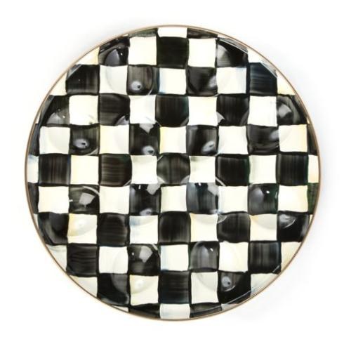 MacKenzie-Childs Courtly Check Tabletop Enamel Egg Plate $48.00