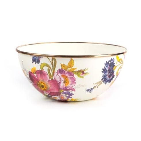 MacKenzie-Childs  Flower Market  Small Everyday Bowl - White $42.00