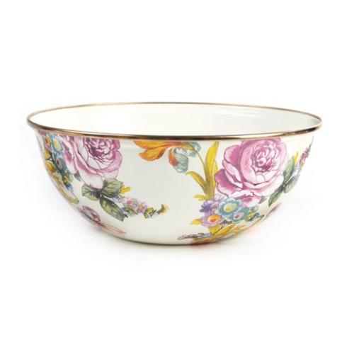 MacKenzie-Childs  Flower Market  Medium Everyday Bowl - White $65.00