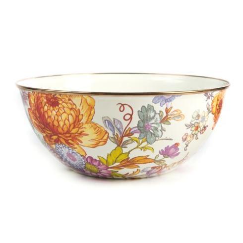 MacKenzie-Childs  Flower Market  Large Everyday Bowl - White $70.00