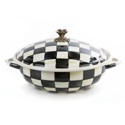 MacKenzie-Childs  Courtly Check Enamel Casserbole - Large $145.00