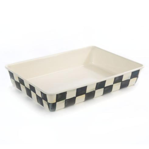 MacKenzie-Childs  Courtly Check Enamel Baking Pan - 9