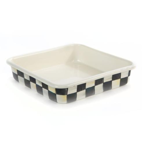 "MacKenzie-Childs Courtly Check Kitchen Enamel Baking Pan - 8"" $65.00"