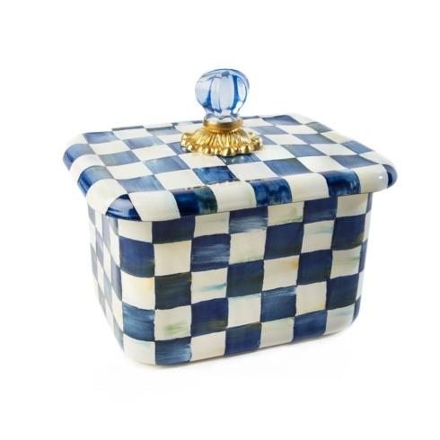 MacKenzie-Childs  Royal Check Recipe Box $98.00