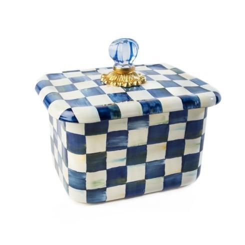 MacKenzie-Childs Royal Check Accessories Recipe Box $98.00