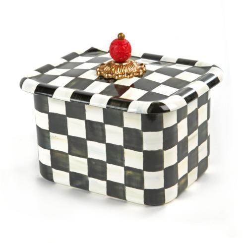 MacKenzie-Childs Courtly Check Kitchen Enamel Recipe Box $98.00