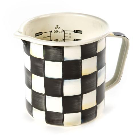MacKenzie-Childs Courtly Check Kitchen Enamel 7 Cup Measuring Cup $68.00