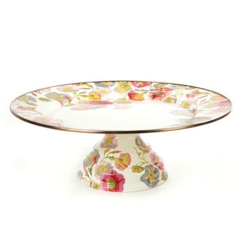 MacKenzie-Childs  Morning Glory Pedestal Platter - Large $110.00