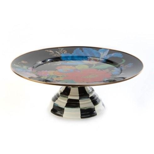$110.00 Pedestal Platter - Black