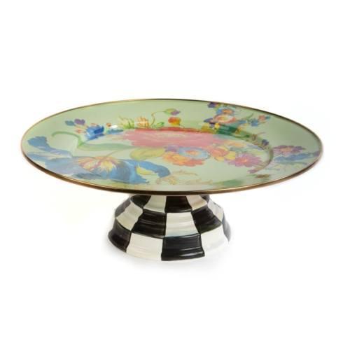 $110.00 Pedestal Platter - Green