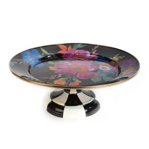 Small Pedestal Platter - Black